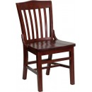 Flash Furniture HERCULES Series Mahogany Finished School House Back Wooden Restaurant Chair [XU-DG-W0006-MAH-GG] width=